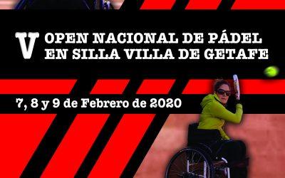 """V OPEN NACIONAL DE PÁDEL EN SILLA """"VILLA DE GETAFE"""""""