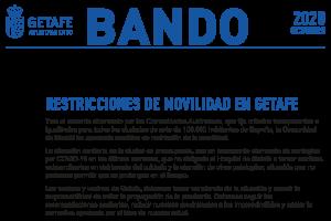 Bando. Restricciones de movilidad en Getafe
