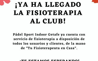Fisioterapia en el club